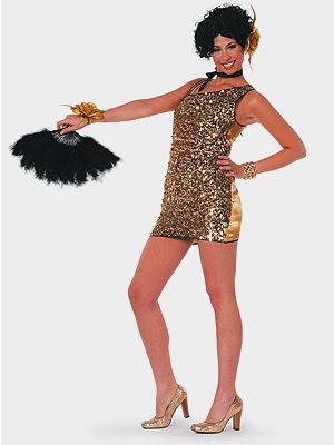 Sexy damesjurk goud
