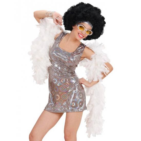 Sexy disco jurkje hologram zilver