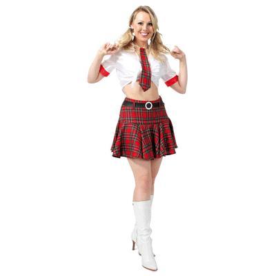 Sexy verkleed school uniform voor dames