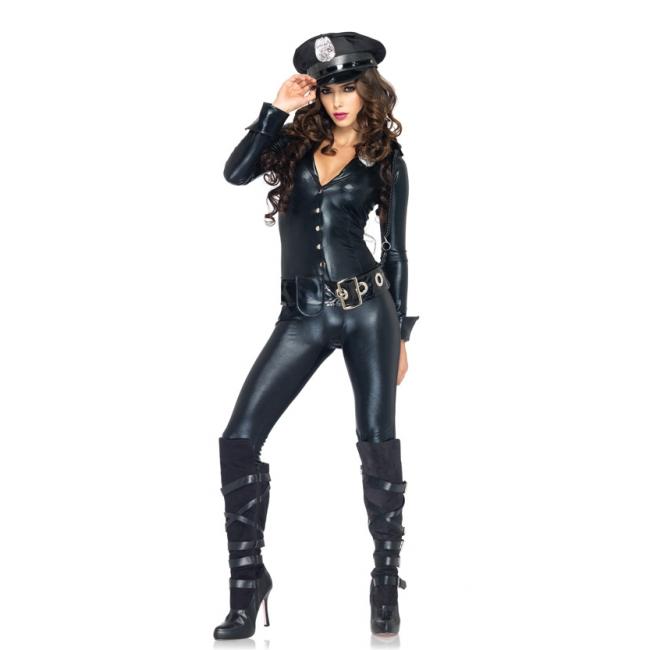 Officer payne sexy politie kleding bodysuit met accessoires