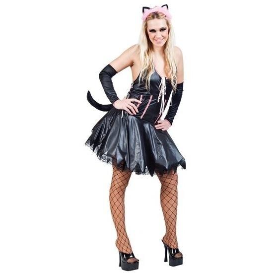 Carnavalskleding sexy poes kat zwart