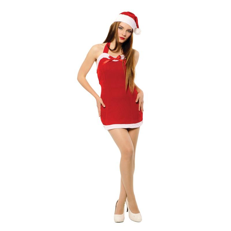 Sexy kerst jurkje met kerstmuts voor dames