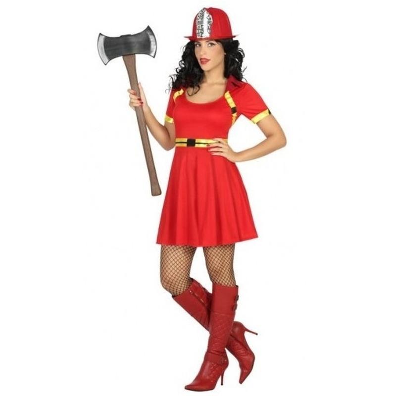 Sexy brandweer kostuum jurkje voor dames