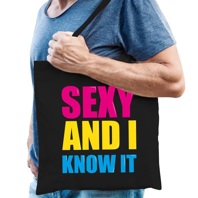 Sexy and i know it cadeau tas zwart voor heren