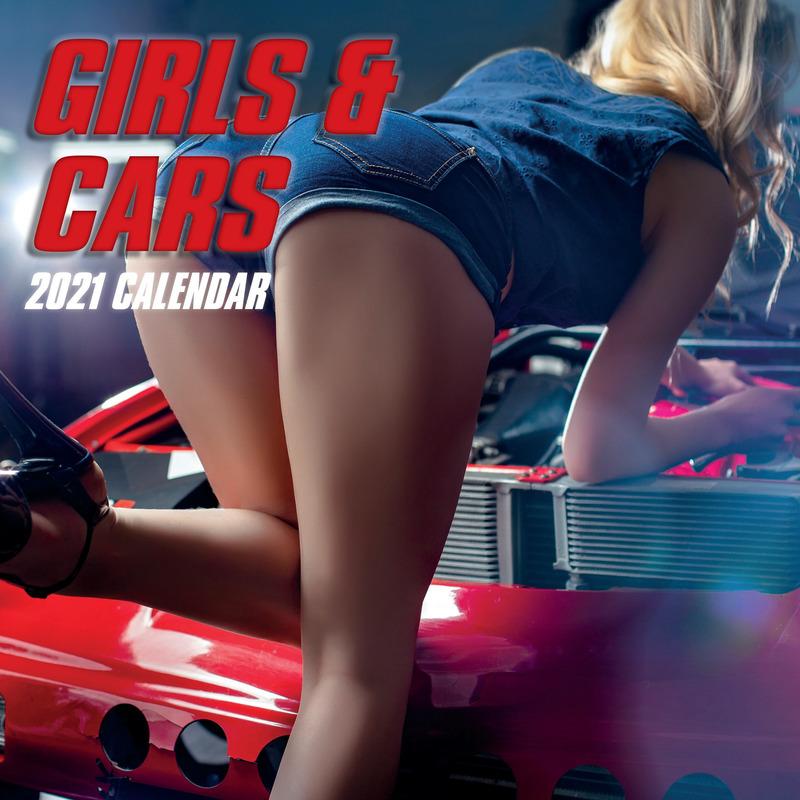 Sexy dames vrouwen met autos 2021 wandkalender